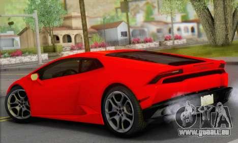 Lamborghini Huracan 2014 Type 2 pour GTA San Andreas laissé vue