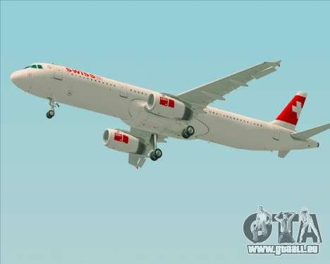 Airbus A321-200 Swiss International Air Lines für GTA San Andreas Unteransicht