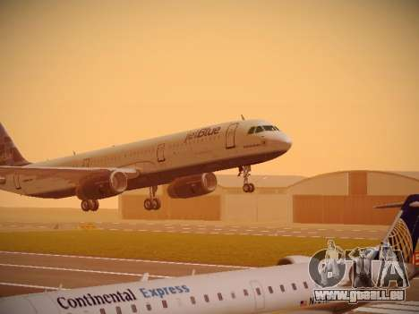 Airbus A321-232 jetBlue Do-be-do-be-blue pour GTA San Andreas laissé vue