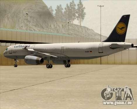 Airbus A321-200 Lufthansa für GTA San Andreas Räder