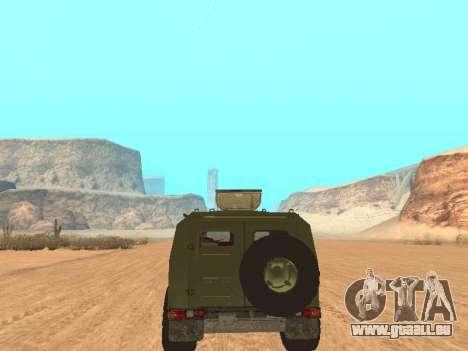 GAZ 2975 für GTA San Andreas Rückansicht