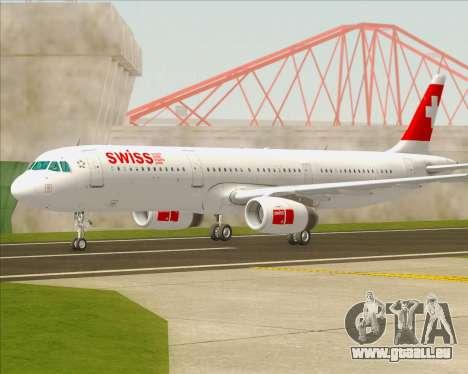 Airbus A321-200 Swiss International Air Lines für GTA San Andreas linke Ansicht