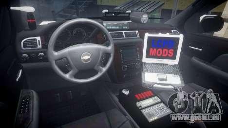 Chevrolet Suburban 2008 Hebron Police [ELS] Blue pour GTA 4 Vue arrière