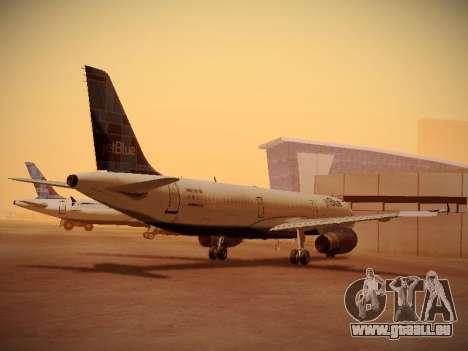 Airbus A321-232 jetBlue Do-be-do-be-blue für GTA San Andreas zurück linke Ansicht