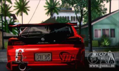 Nissan Silvia S15 Team Drift Monkey pour GTA San Andreas laissé vue