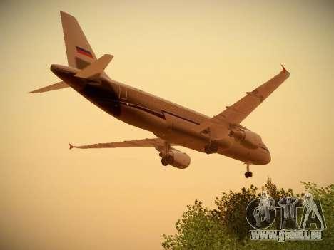 Airbus A320-214 Aeroflot Retrojet für GTA San Andreas Unteransicht