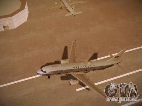 Airbus A320-214 Aeroflot Retrojet pour GTA San Andreas vue de dessus