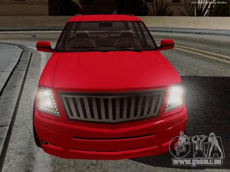 Albany Cavalcade pour GTA San Andreas sur la vue arrière gauche