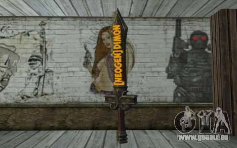 Sword from World of Warcraft für GTA San Andreas zweiten Screenshot