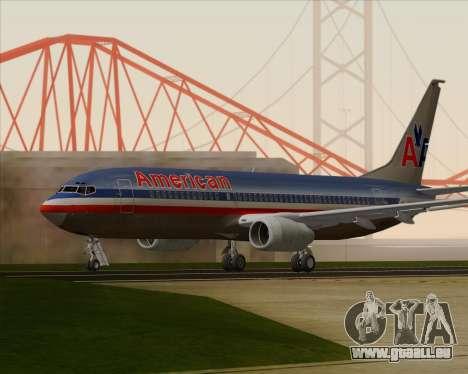 Boeing 737-800 American Airlines für GTA San Andreas rechten Ansicht