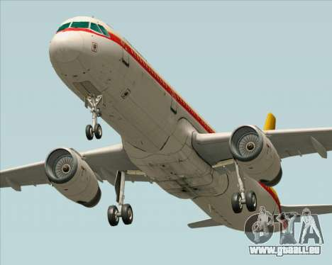 Airbus A321-200 Continental Airlines für GTA San Andreas Rückansicht