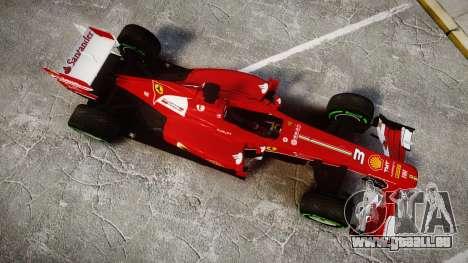 Ferrari F138 v2.0 [RIV] Alonso TIW für GTA 4 rechte Ansicht