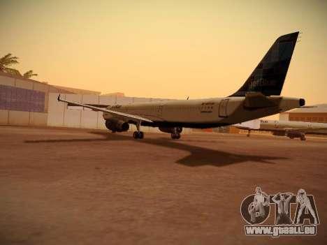 Airbus A321-232 jetBlue Do-be-do-be-blue für GTA San Andreas rechten Ansicht