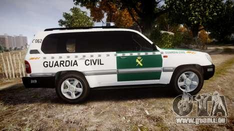 Toyota Land Cruiser Guardia Civil Cops [ELS] für GTA 4 linke Ansicht