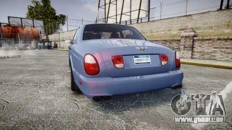 Bentley Arnage T 2005 Rims2 Black pour GTA 4 Vue arrière de la gauche