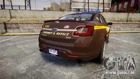 Ford Taurus Sheriff [ELS] Virginia pour GTA 4 Vue arrière de la gauche
