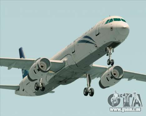 Airbus A321-200 Air New Zealand pour GTA San Andreas vue intérieure