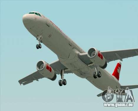 Airbus A321-200 Swiss International Air Lines für GTA San Andreas zurück linke Ansicht