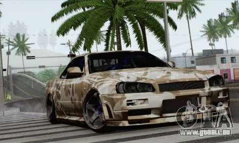 Nissan Skyline R34 pour GTA San Andreas