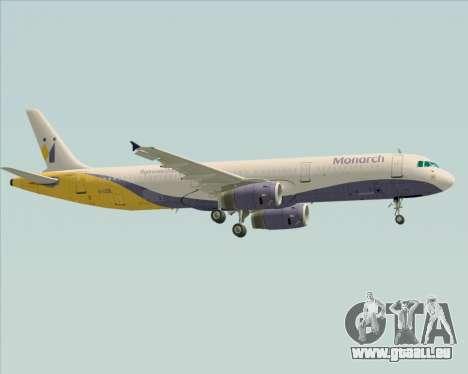 Airbus A321-200 Monarch Airlines für GTA San Andreas rechten Ansicht