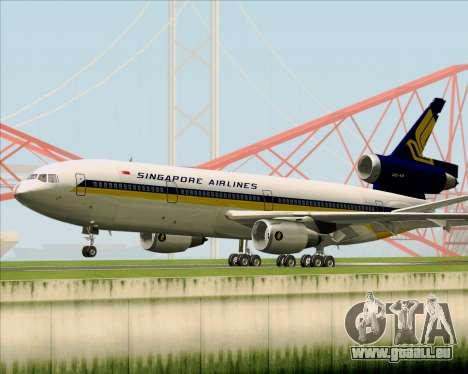 McDonnell Douglas DC-10-30 Singapore Airlines pour GTA San Andreas vue arrière