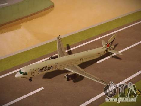 Airbus A321-232 jetBlue I love Blue York pour GTA San Andreas salon