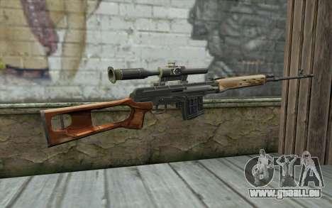 Fusil De Sniper Dragunov pour GTA San Andreas deuxième écran