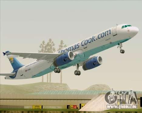 Airbus A321-200 Thomas Cook Airlines für GTA San Andreas Räder