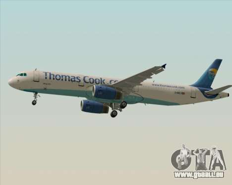 Airbus A321-200 Thomas Cook Airlines pour GTA San Andreas sur la vue arrière gauche