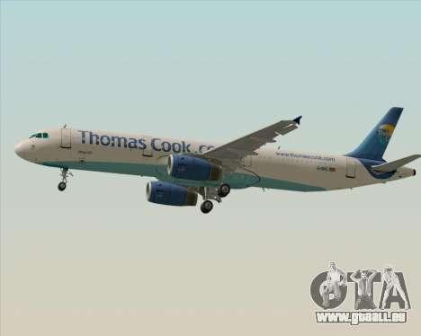 Airbus A321-200 Thomas Cook Airlines für GTA San Andreas zurück linke Ansicht