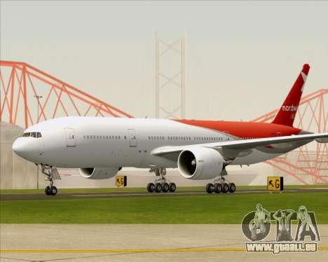 Boeing 777-21BER Nordwind Airlines pour GTA San Andreas sur la vue arrière gauche