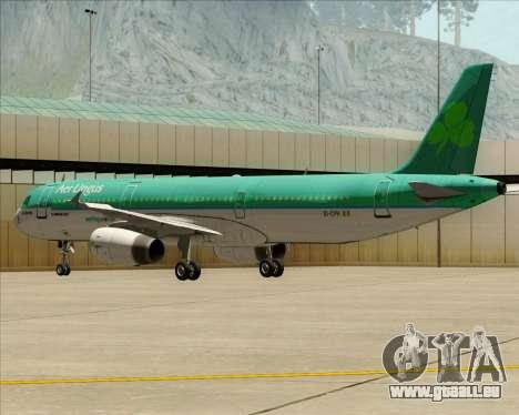 Airbus A321-200 Aer Lingus für GTA San Andreas Seitenansicht