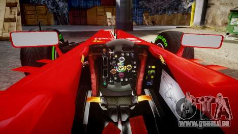 Ferrari F138 v2.0 [RIV] Alonso TIW für GTA 4 Innenansicht