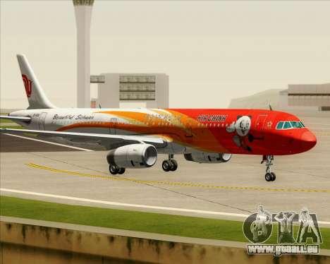 Airbus A321-200 Air China (Beautiful Sichuan) pour GTA San Andreas vue intérieure
