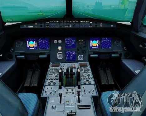 Airbus A321-200 United Airlines für GTA San Andreas Innen