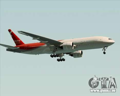 Boeing 777-21BER Nordwind Airlines pour GTA San Andreas vue arrière