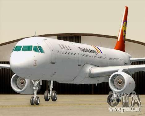 Airbus A321-200 TransAsia Airways für GTA San Andreas Räder