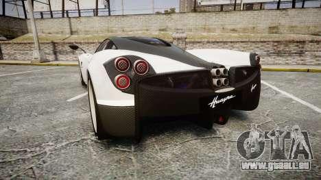 Pagani Huayra 2013 [RIV] Carbon pour GTA 4 Vue arrière de la gauche