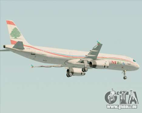 Airbus A321-200 Middle East Airlines (MEA) für GTA San Andreas Unteransicht
