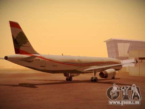 Airbus A321-232 Middle East Airlines für GTA San Andreas rechten Ansicht
