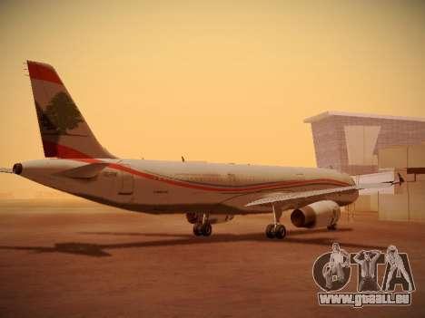 Airbus A321-232 Middle East Airlines pour GTA San Andreas vue de droite
