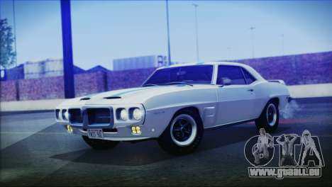 Pontiac Firebird Trans Am Coupe (2337) 1969 pour GTA San Andreas sur la vue arrière gauche