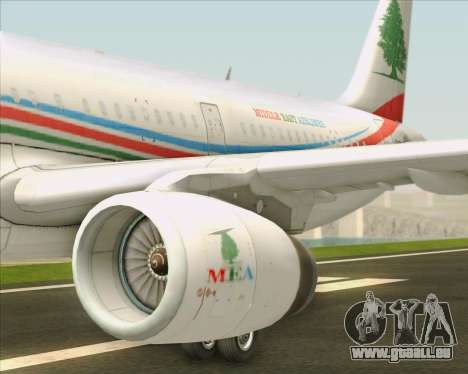Airbus A321-200 Middle East Airlines (MEA) pour GTA San Andreas moteur