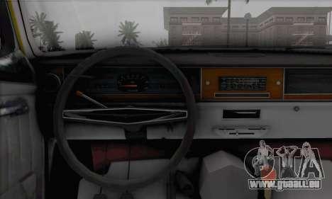 GAZ 24 pour GTA San Andreas sur la vue arrière gauche