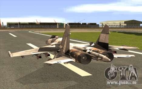 Sukhoi SU-35 BF3 pour GTA San Andreas laissé vue