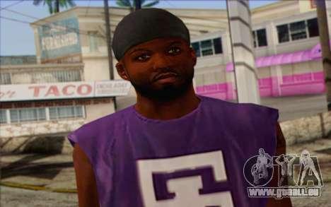 Ballas from GTA 5 Skin 1 pour GTA San Andreas troisième écran