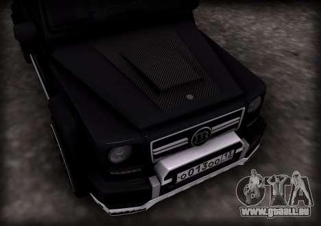 Brabus 800 pour GTA San Andreas laissé vue