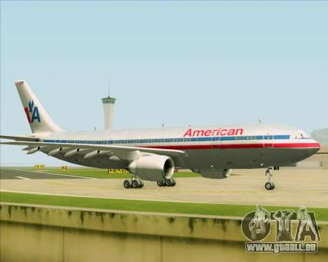 Airbus A300-600 American Airlines pour GTA San Andreas vue intérieure