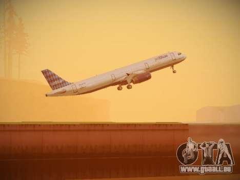 Airbus A321-232 jetBlue Airways pour GTA San Andreas vue de dessous