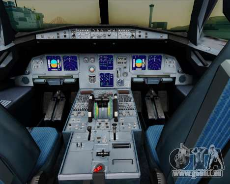 Airbus A321-200 Air New Zealand pour GTA San Andreas salon